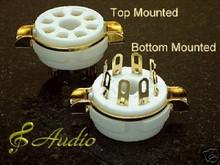 4-Sets Gold Plated 8 Pin Panel Mounted Tube Socket EL34