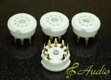 4 Piece Gold Plated 9 Pin PCB Mounted Tube Socket 12AX7