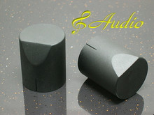 2 pcs 25mmD x 31mmL  Black Color Solid Aluminum Knobs