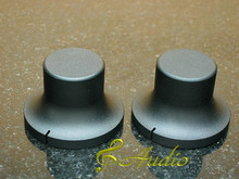 2 pc 48mmDx26mmL Black Color Solid Aluminum Knobs
