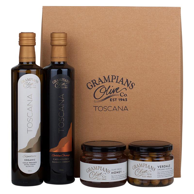 Olives oil honey hamper