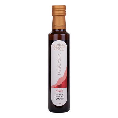 Chilli infused Australian organic extra virgin olive oil