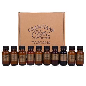 Organic olive oil, infused olive oil, balsamic vinegar sampler gift pack