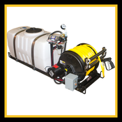 50 Gallon - Pest Control Skid Sprayer (Standard) - Jet Agitation - Electric Reel - Pickup Mount - Shurflo Pressure Pump