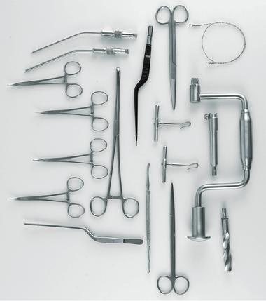 Creutzfeldt-Jakob Disease (CJD) Tray and Kit of Instruments