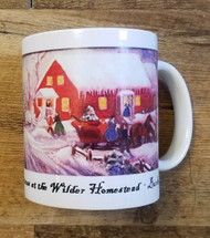 This festive mug shows a wonderful depiction of a snowy holiday gathering at the Wilder family's home.