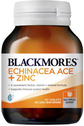 Blackmores Echinacea ACE and Zinc for upper respiratory tract infections, cold and flu, sinusitis, coughs and sneezes