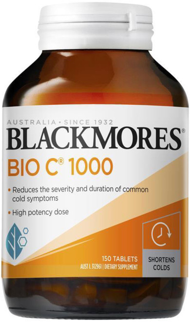 Blackmores Bio C 1000mg reduces colds, flu and hay fever, allergic reactions and assists wound healing