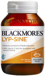 Blackmores Lyp-Sine for the relief of cold sores. Best taken at the first sign of a cold sore when a tingling is felt in the lip area