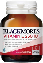 Blackmores Vitamin E 250IU Natural E may help reduce oxidation of LDL cholesterol (the bad cholesterol) and is a powerful antioxidant and free radical scavenger