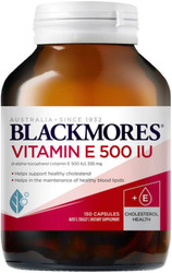 Blackmores Natural Vitamin E 500IU may help reduce oxidation of LDL cholesterol (the bad cholesterol) and is a powerful antioxidant and free radical scavenger