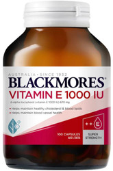 Blackmores Natural E Vitamin E 1000IU reduces oxidation of LDL cholesterol (the bad cholesterol) and is a powerful antioxidant and free radical scavenger