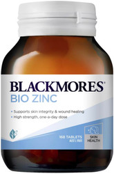 Blackmores Bio Zinc is beneficial for the immune system and skin, particularly for the treatment of minor skin disorders such as acne and superficial wounds