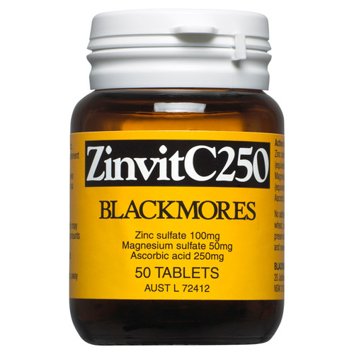 Blackmores ZinvitC250 Tablets 50