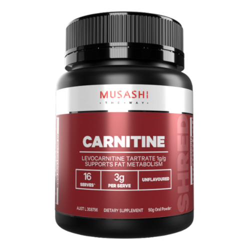 Musashi Carnitine is 100% pure L-Carnitine powder. The Rolls Royce of the amino acids for FAT LOSS, L-Carnitine converts stored fats to energy