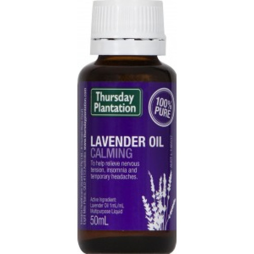 Thursday Plantation Lavender for the relief of symptoms of eczema, to help relieve nervous tension and insomnia and to give temporary relief of headaches