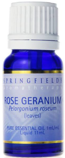 Springfields Geranium Oil is a soothing, ‰mothering‰ oil that inspires balance, regeneration and tranquillity. It is highly indicated when feeling unbalanced emotionally and physically