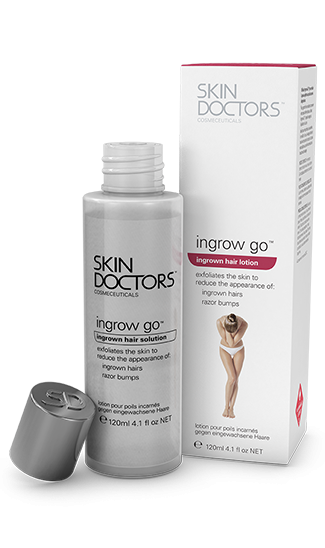 Skin Doctors Ingrow Go is the amazing treatment that outs ingrown hairs leaving skin smooth, clear and bump free (without razor rash). Perfect for legs, underarms, bikini line