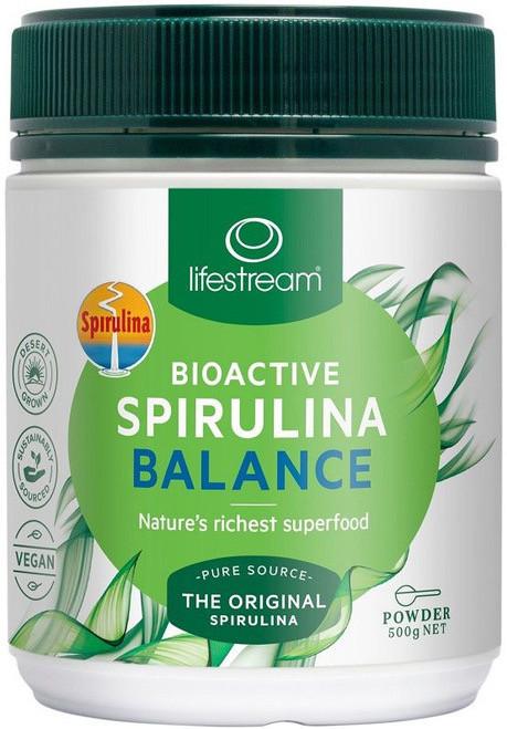 Lifestream Bioactive Spirulina Balance is a Biogenic Wholefood concentrate of dehydrated fresh water blue-green microalgae
