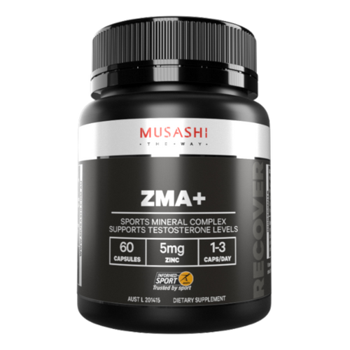 Musashi ZMA + is an excellent choice for athletes wishing to increase power and strength, assist energy metabolism, prolong the onset of fatigue