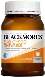 Blackmores Bio C Chewable can be used to reduce the severity and duration of colds and allergic reactions and to assist wound healing