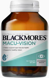 Blackmores Macu-Vision provides nutrients important to the macular region of the eye