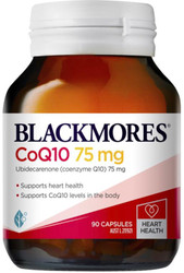 Blackmores CoQ10 75mg is a natural source of coenzyme Q10 and a powerful antioxidant. It provides support for cellular energy production and helps maintain normal healthy functioning of the heart