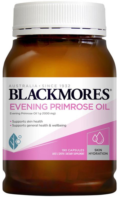 Blackmores Evening Primrose Oil 1000mg is rich in essential fatty acids (EFAs), gamma-linolenic acid (GLA) and linolenic acid (LA) for the relief of PMS
