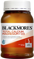 Blackmores Total Calcium Plus Magnesium aids in the prevention of calcium deficiency states including osteoporosis