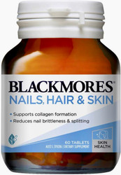 Blackmores Nails, Hair and Skin is a unique formula specially designed to assist in strengthening brittle nails, increasing nail thickness and reducing splitting and chipping