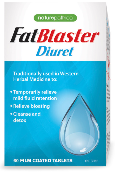Naturopathica FatBlaster Diuret combats bloating caused by excess fluid retention by providing a natural approach to maintaining healthy body fluid levels