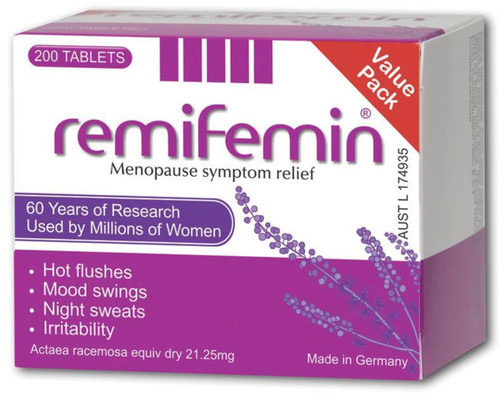 Remifemin Menopause Symptom Relief is a natural herbal supplement derived from the black cohosh plant, for women who prefer not to take hormones for menopause
