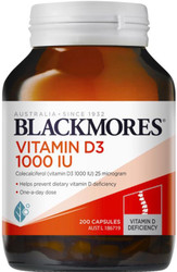 Blackmores Vitamin D3 is a high strength Vitamin D3 supplement which helps maintain healthy bone density