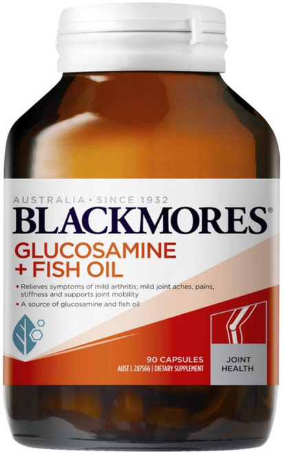 Blackmores Glucosamine & Fish Oil combines a clinically proven dose of glucosamine with high quality fish oil to provide effective and convenient arthritis pain relief