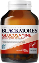 Blackmores Glucosamine Sulfate 1500 provides effective osteoarthritic pain relief and may help improve joint mobility in a convenient once daily dose