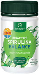 Lifestream Bioactive Spirulina is a Biogenic Wholefood concentrate of dehydrated fresh water blue-green microalgae