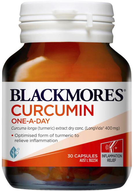 Blackmores Curcumin One-A-Day provides optimised turmeric which is anti-inflammatory and supports cognitive function