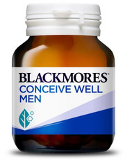 Blackmores Conceive Well Men supports preconception health in men with a comprehensive antioxidant formula and important nutrients for healthy conception