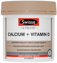 Swisse Ultiboost Calcium and Vitamin D is a well-balanced bone health supplement that provides a rich source of Calcium and Vitamin D to support healthy bones and teeth