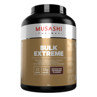 Musashi BULK Extreme Chocolate milkshake flavour provides your body with calories and key macronutrient protein, to help your muscles grow and repair.