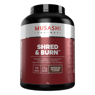 Musashi Shred and Burn Chocolate promotes fat burning and builds lean muscle