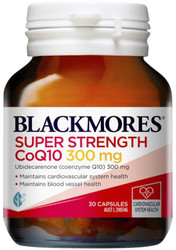 Blackmores CoQ10 300mg is a natural source of coenzyme Q10 and a powerful antioxidant for cellular energy production and the heart