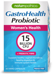 Naturopathica GastroHealth Women's Probiotic for diarrhoea,Flatulence,Indigestion,Bloating and Constipation, digestive health and the immune system