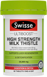 Swisse Ultiboost Milk Thistle High Strength supports liver regeneration and detoxification