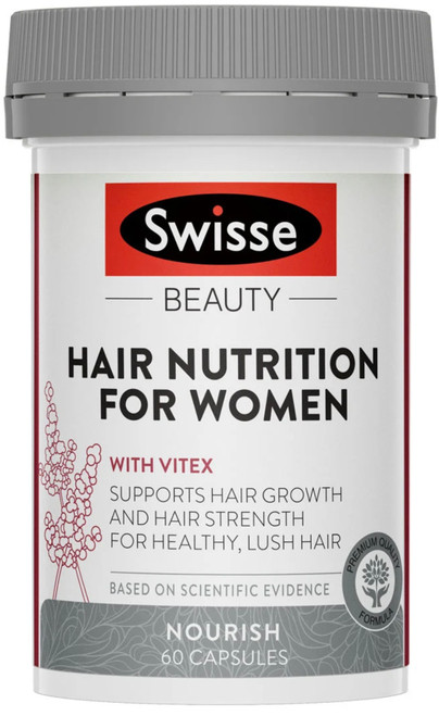 Swisse Beauty Hair Nutrition With Vitex for Women supports hair growth