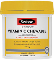 Swisse Ultiboost Vitamin C 500mg Chewable reduces cold symptoms, supports healthy immune function and healthy antioxidant activity