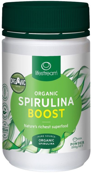 Lifestream Organic Spirulina Boost is a powerful immune system support food due to its high levels of phytonutrients