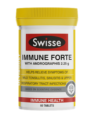 Swisse UltiBoost Immune Forte with andrographis help relieve tonsillitis, sinusitis,colds and flu