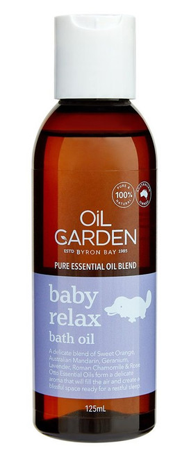 Oil Garden Baby Relax Bath Oil helps baby relax. Perfect your child as part of their sleep routine.