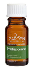 Oil Garden Frankincense Pure Essential Oil is comforting and inspirational for Congestion, coughs, nervous tension, mild anxiety, stress.